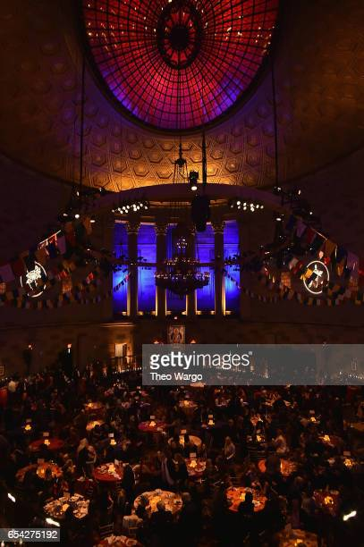 Guests attend the after party for the Tibet House US 30th Anniversary Benefit Concert Gala to celebrate Philip Glass's 80th Birthday at Gotham Hall...