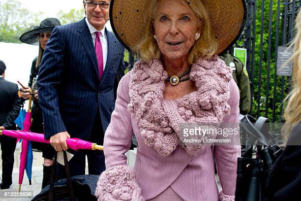 Guests attend the annual Frederick Law Olmsted luncheon held at the Central Park Conservancy to raise money for the Central Park on May 4 2016 in New...