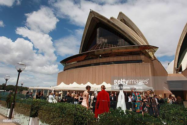 Guests attend the Australian Fashion Laureate Awards at Sydney Opera House on October 23 2015 in Sydney Australia