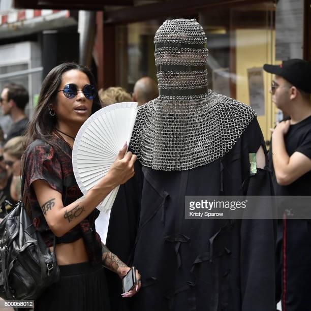 Guests attend the Boris Bidjan Saberi Menswear Spring/Summer 2018 show as part of Paris Fashion Week on June 22 2017 in Paris France