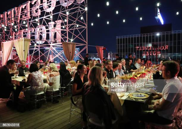 Guests attend the Capital One Celebration of the launch of the new SavorSM during A Priceless Table presented by Mastercard at The Hollywood...