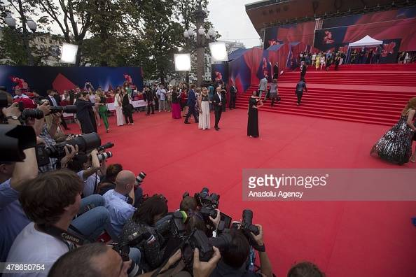 Guests attend the closing ceremony for the 37th Moscow International Film Festival in Moscow Russia on June 262015