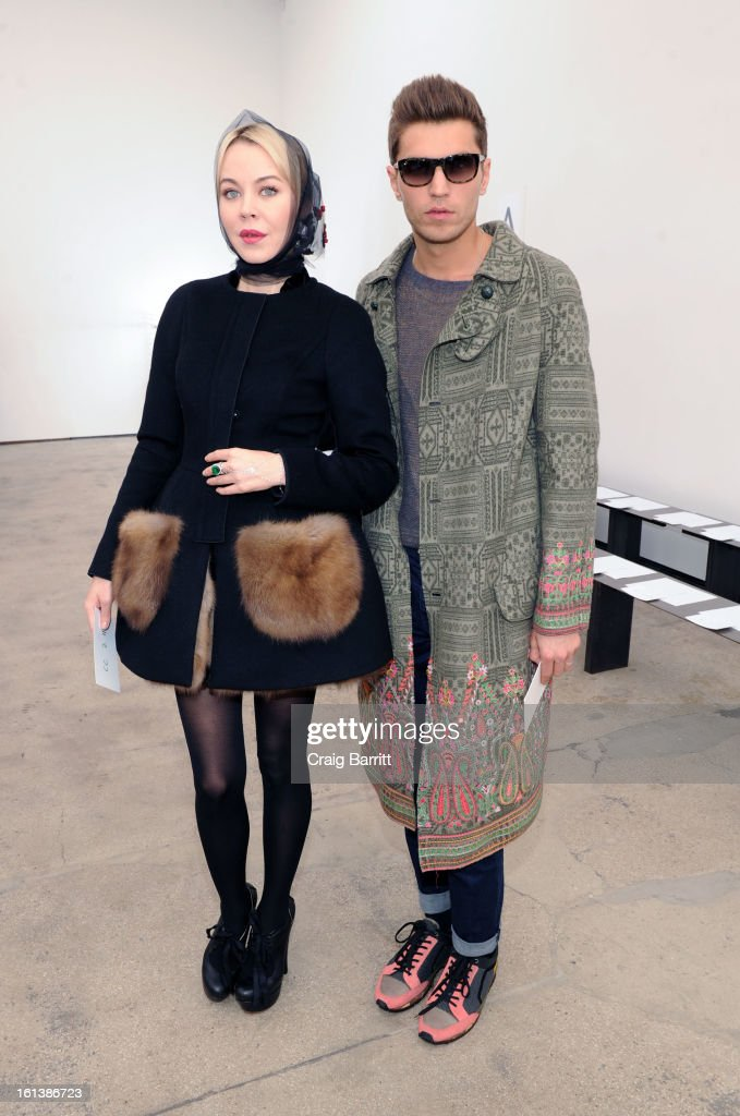 Guests attend the Derek Lam fall 2013 fashion show during Mercedes-Benz Fashion Week at Sean Kelly Gallery on February 10, 2013 in New York City.