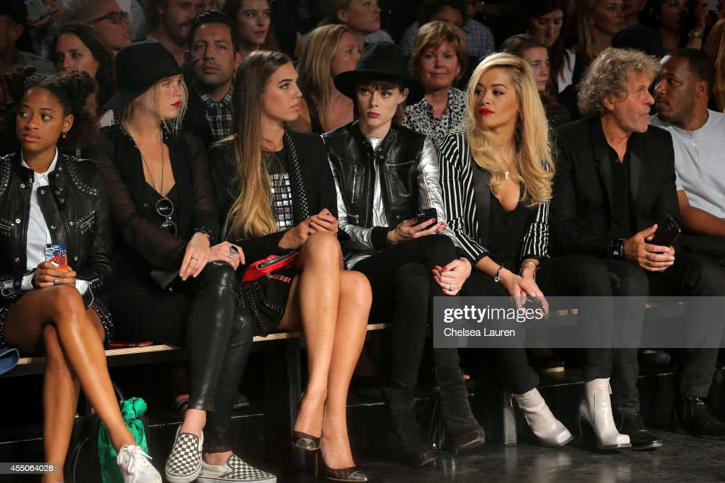 Guests attend the Diesel Black Gold fashion show during MercedesBenz Fashion Week Spring 2015 at Skylight at Moynihan Station on September 9 2014 in...