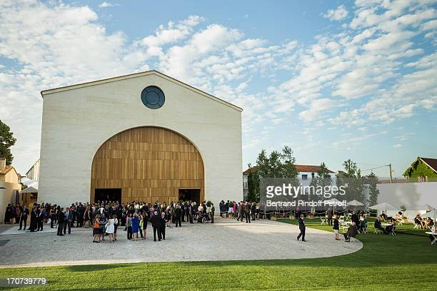 Guests attend the dinner of Conseil des Grand Crus Classes of 1855 hosted by Chateau Mouton Rothschild on June 16 2013 in Pauillac near Bordeaux...