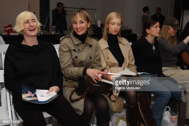 Guests attend the DooRi Fashion Show Front Row at Mao Space on February 6 2004 in New York City