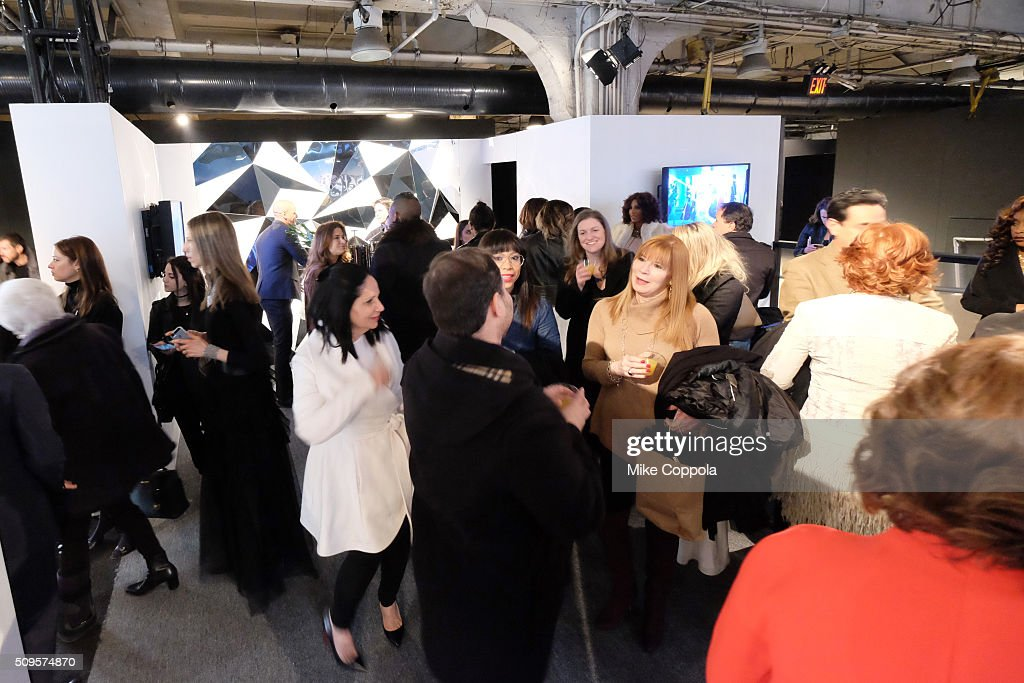 Guests attend the E! Network and TRESemme activation at Moynihan Station during Fall 2016 New York Fashion Week: The Shows - Day 1 on February 11, 2016 in New York City.