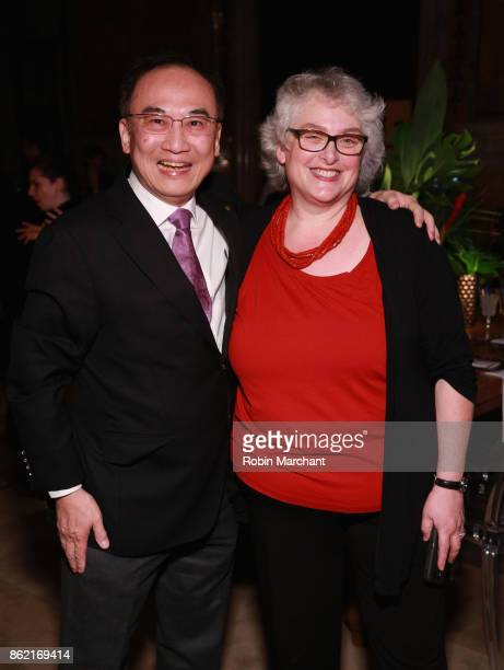 Guests attend the Ernesto Illy International Coffee Award gala at New York Public Library on October 16 2017 in New York City