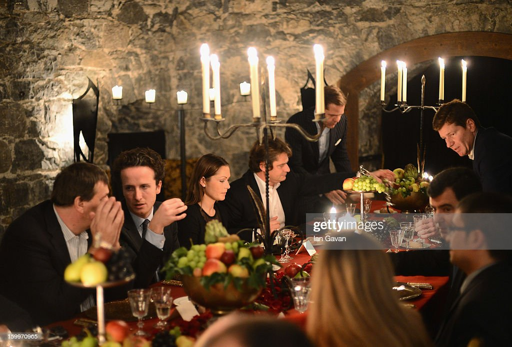 Guests attend the Excalibur Dinner hosted by Roger Dubuis during the 23rd Salon International de la Haute Horlogerie at Caves des Vollandes on January 23, 2013 in Geneva, Switzerland.