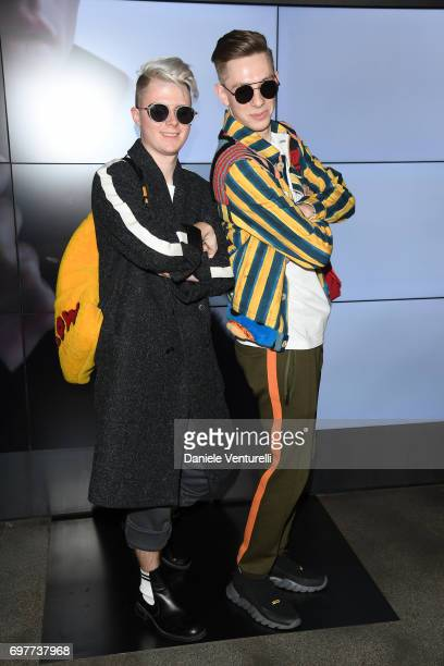 Guests attend the Fendi show during Milan Men's Fashion Week Spring/Summer 2018 on June 19 2017 in Milan Italy