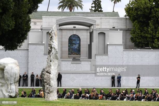 Guests attend the funeral and memorial service for Soundgarden frontman Chris Cornell May 26 2017 at Hollywood Forever Cemetery in Los Angeles...