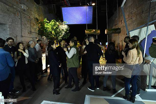 Guests attend the FX's Legion WhereHouse at Villian on January 26 2017 in Brooklyn New York