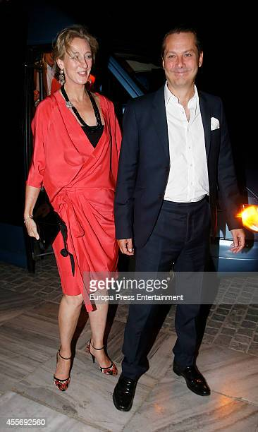 Guests attend the Golden Wedding Anniversary of King Constantine II and Queen Anne Marie of Greece at Acropolis Museum on September 17 2014 in Athens...