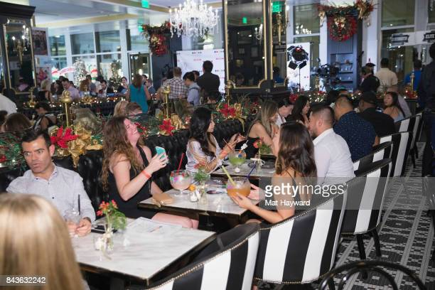 Guests attend the Grand Opening Of Sugar Factory American Brasserieon September 6 2017 in Bellevue Washington
