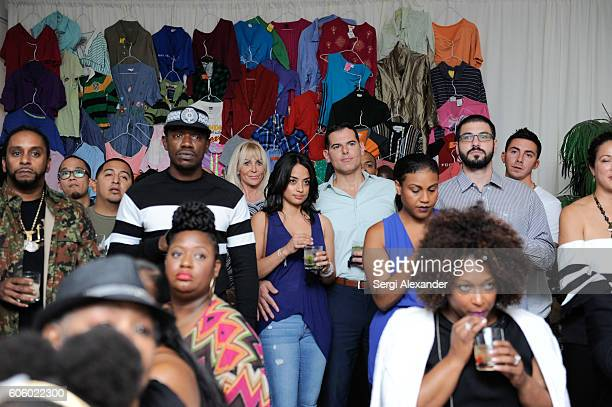 Guests attend the Haitian photographer Bob Metelus unveils newest collection Haiti A Collective Cry from a Forgotten Paradise on September 15 2016 in...