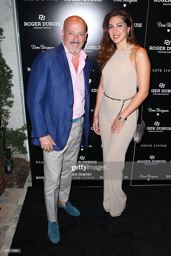 Guests attend the Haute Living and Roger Dubuis dinner hosted by Daphne Guinness at Azur on December 5, 2012 in Miami Beach, Florida.