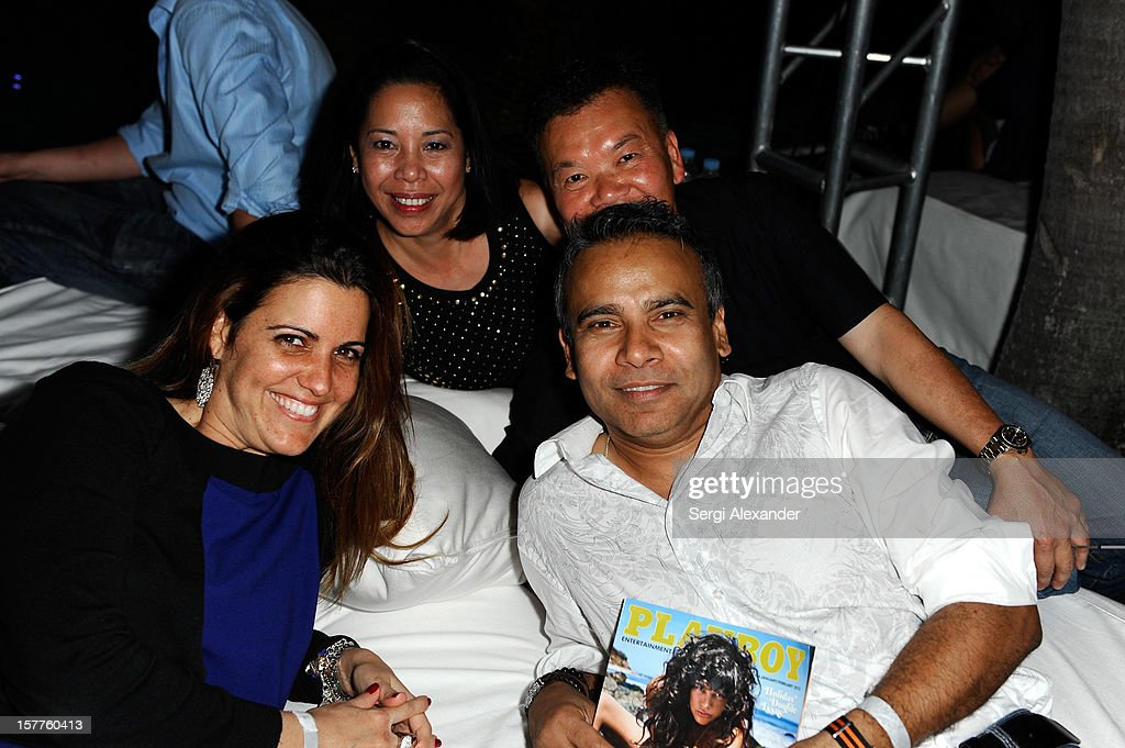 Guests attend The Hole Gallery concert sponsored by Playboy and hosted by Delano at Delano Hotel on December 5, 2012 in Miami, Florida.