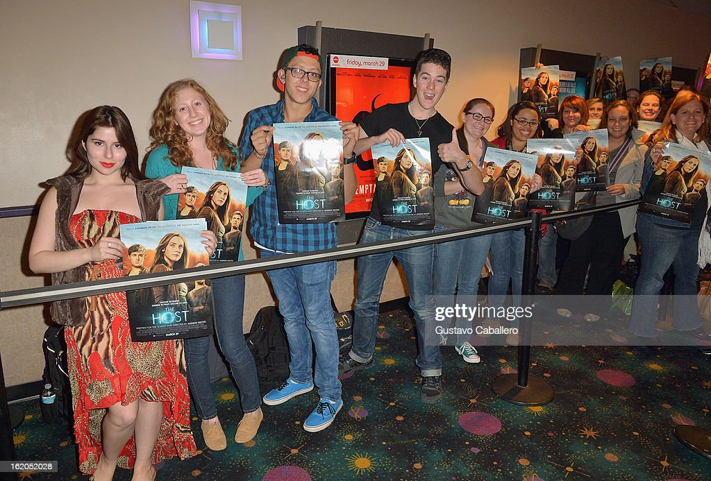 Guests attend 'The Host' Miami Q&A Screening with Stephenie Meyer, Jake Abel and Max Irons at AMC Sunset Place on February 18, 2013 in Miami, Florida.