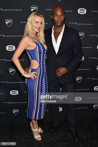 Guests attend the Italia Independent X Ducati Celebration of The Launch Of The Scrambler Ducati at The Setai Miami Beach on December 5 2015 in Miami...