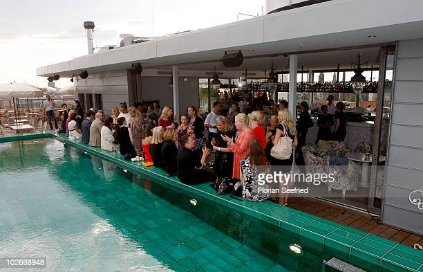 Guests attend the 'Liebig Cocktail' at the Soho House on July 6 2010 in Berlin Germany