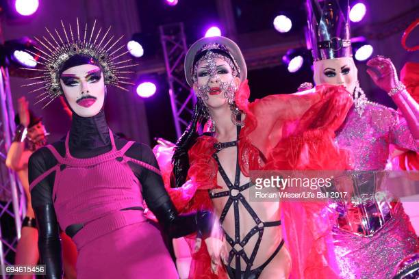 Guests attend the Life Ball 2017 after show party at Volksgarten on June 10 2017 in Vienna Austria