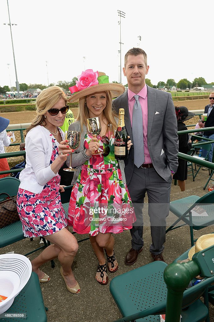 Guests attend the Moet & Chandon Toasts The 140th Kentucky Derby at Churchill Downs on May 2, 2014 in Louisville, Kentucky.