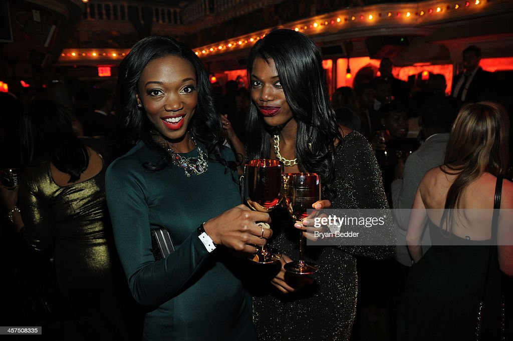 Guests attend the Moet Rose Lounge hosted by Future at The Box on December 17, 2013 in New York City.