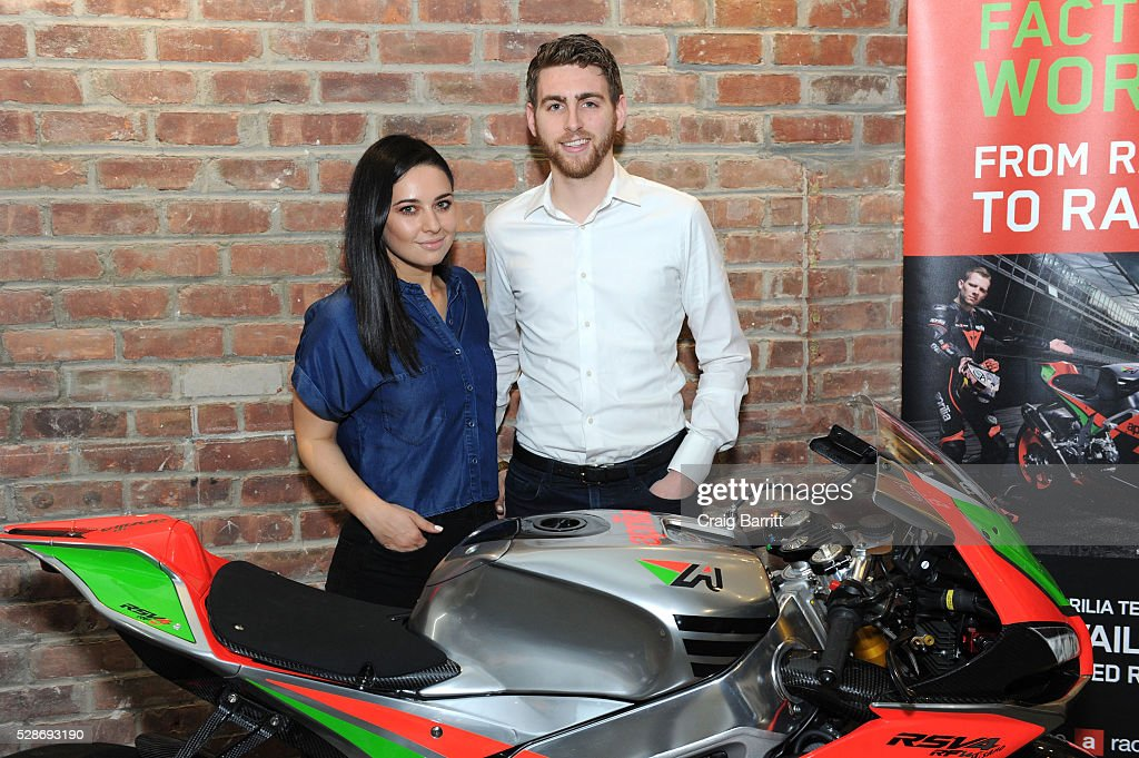 Guests attend the New York debut of the Aprilia RSV4 World SBK RF Misano & Moto Guzzi MGX-21 Flying Fortress at Vespa Manhattan Flagship on May 6, 2016 in New York City.