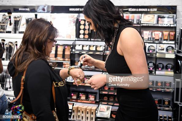 Guests attend the NYX Professional Makeup Store Garden State Plaza Store Photos College Night on September 22 2016 in Paramus New Jersey