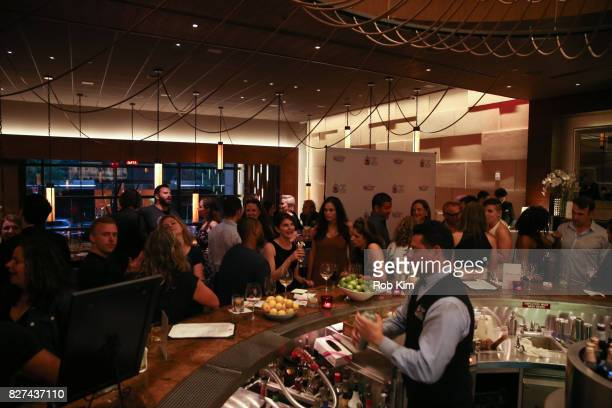 Guests attend the OffBroadway opening night party for 'SUMMER SHORTS 2017' at Fogo de Chao Churrascaria on August 7 2017 in New York City