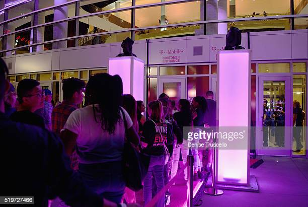 Guests attend the opening celebration of the TMobile Arena on April 7 2016 in Las Vegas Nevada