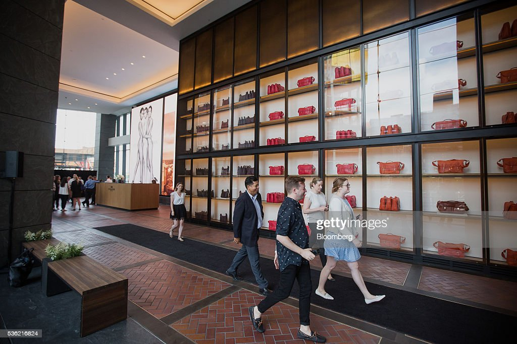 Guests attend the opening of Coach Inc.'s new offices at 10 Hudson Yards in New York, U.S., on Tuesday, May 31, 2016. The first skyscraper at Related Cos.'s $25 billion Hudson Yards project opened Tuesday after three and a half years of construction, bringing office workers to a once-desolate area of Manhattan's far west side that's now transforming into a new business enclave. Photographer: Michael Nagle/Bloomberg via Getty Images