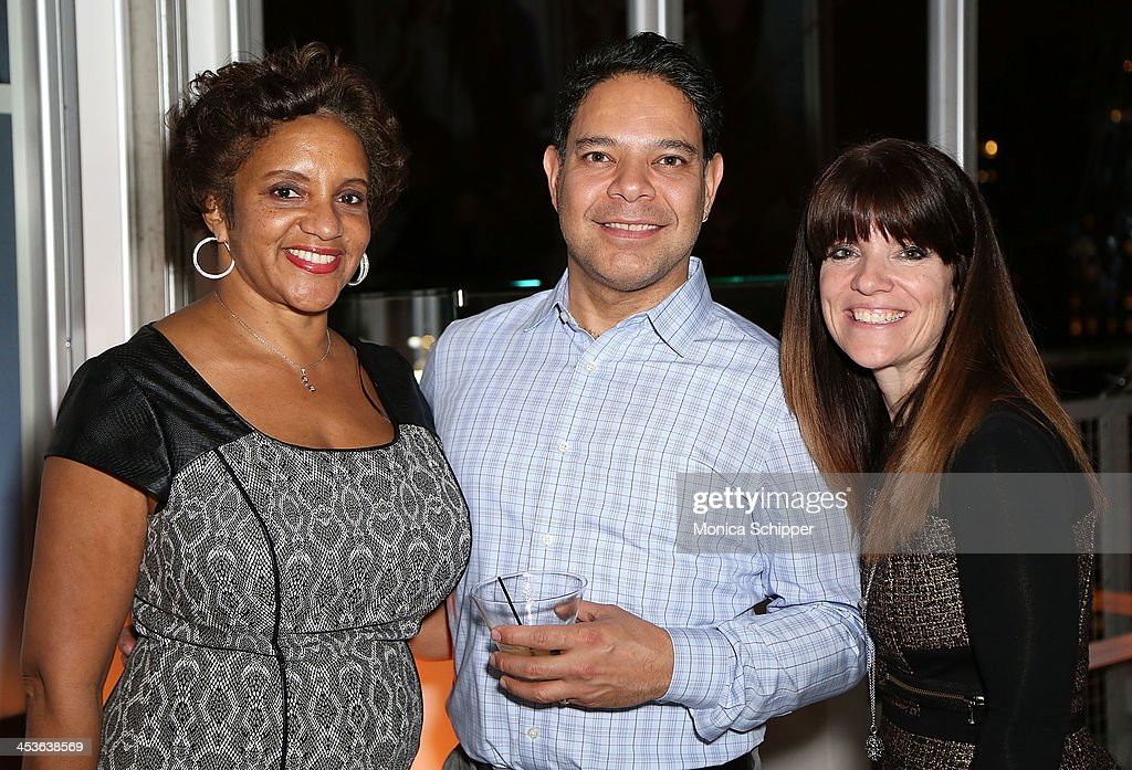 Guests attend the Pandora Happy Hour at Mondrian New York on December 4, 2013 in New York City.