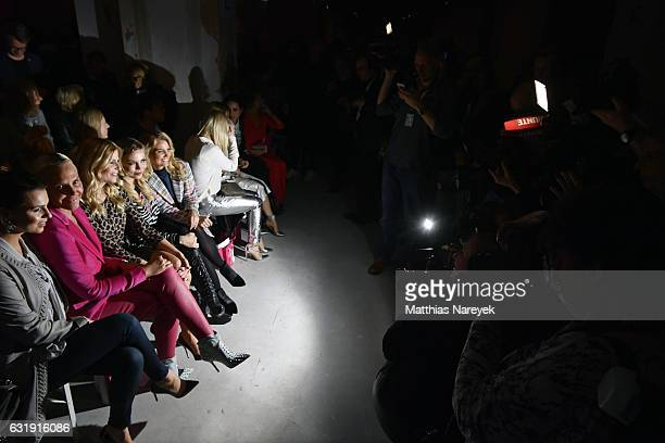 Guests attend the Riani show during the MercedesBenz Fashion Week Berlin A/W 2017 at Kaufhaus Jandorf on January 17 2017 in Berlin Germany
