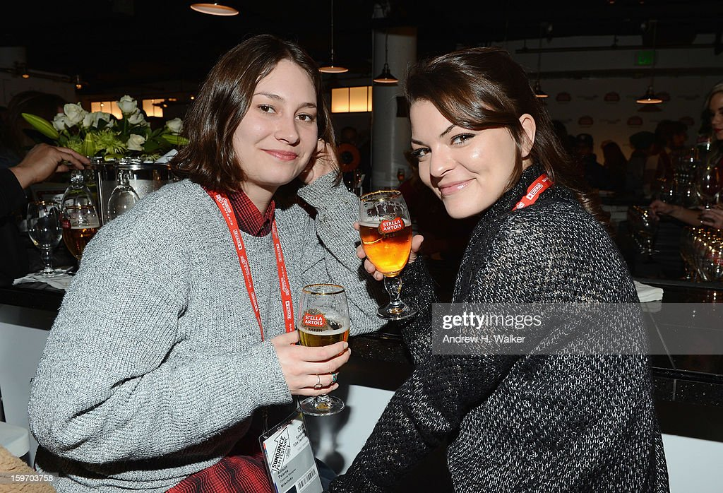 Guests attend the Stella Artois launch of the Timeless Beauty Campaign shot by legendary photographer, Annie Leibovitz at Village at the Lift on January 18, 2013 in Park City, Utah.
