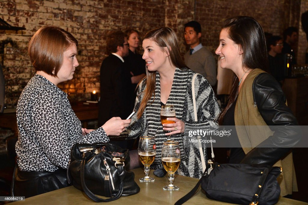 Guests attend the Stella Artois PerfectDraft Home Bar celebration event on March 25, 2014 in New York City.