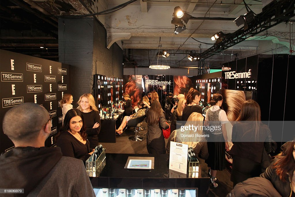 Guests attend the TRESemme Salon at Moynihan Station on February 13, 2016 in New York City.