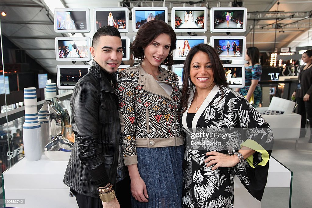 Guests attend the VIP reception ForBCBGMAXAZRIA hosted by Samsung Galaxy Lounge during Mercedes-Benz Fashion Week Fall 2013 Collections at Lincoln Center on February 7, 2013 in New York City.