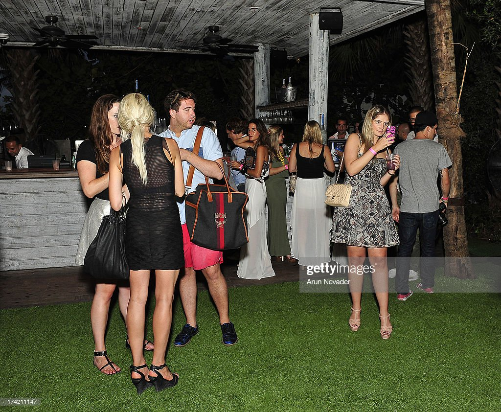 Guests attend the Wildfox Swim Cruise 2014 VIP BBQ at Soho Beach House on July 21, 2013 in Miami Beach, Florida.