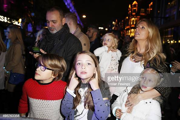 Guests attend The World Famous Oxford Street Christmas Lights Switch On Event taking place at the Pandora Flagship Store on November 1 2015 in London...