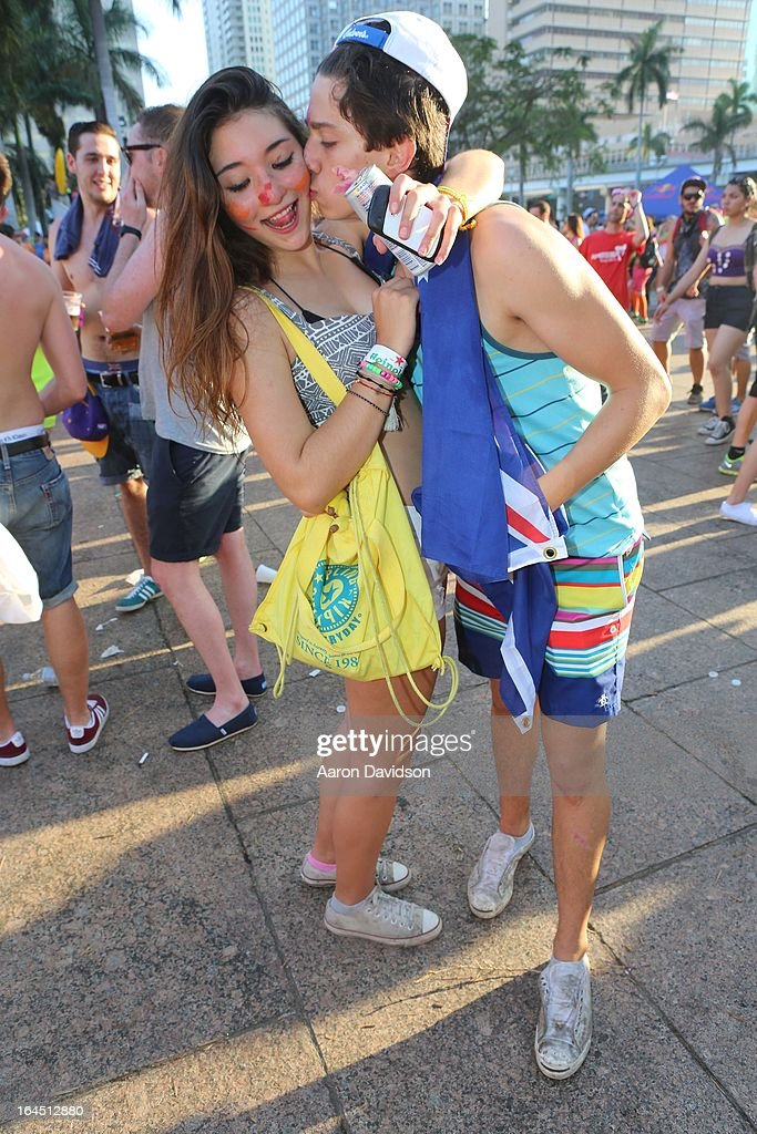 Guests attend Ultra Music Festival Weekend 2 at Bayfront Park Amphitheater on March 23, 2013 in Miami, Florida.