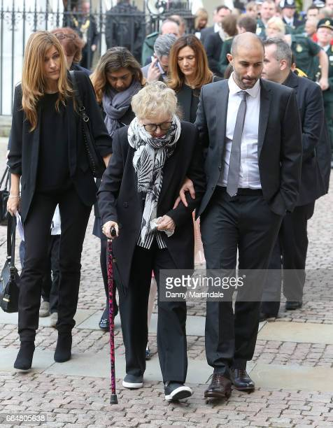 Guests attends Service of Hope at Westminster Abbey on April 5 2017 in London England The multifaith Service of Hope was held for the four people...