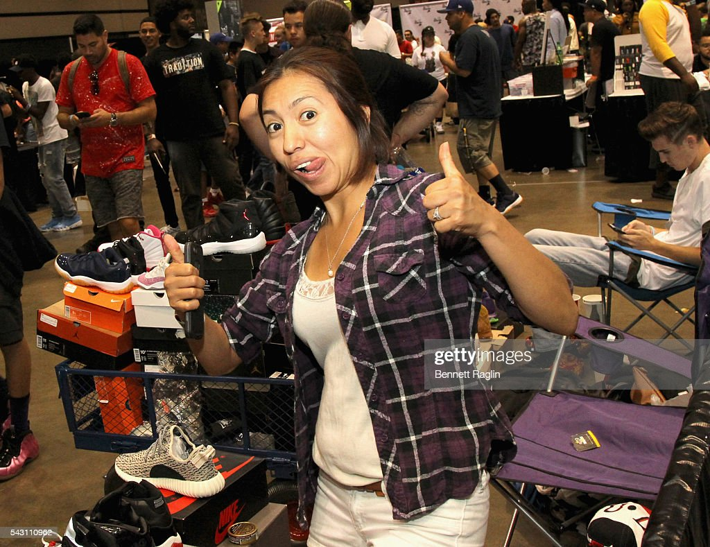 A guests attends SneakerCon presented by Sprite, Rush Card, & FDA during the 2016 BET Experience at Los Angeles Convention Center on June 25, 2016 in Los Angeles, California.