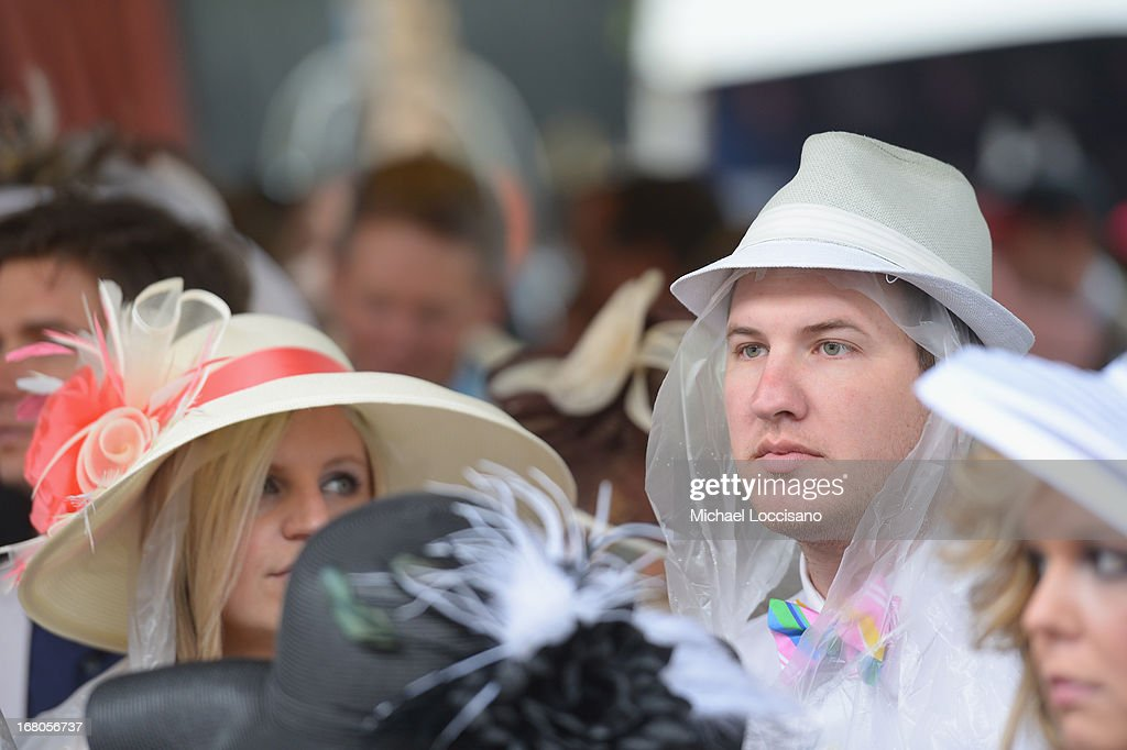 Guests attends the 139th Kentucky Derby at Churchill Downs on May 4, 2013 in Louisville, Kentucky.