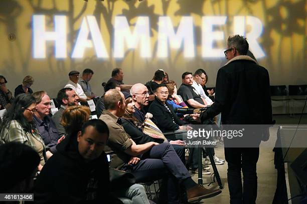 Guests awating John Grants performance at the Hammer Museum on January 15 2015 in Westwood California