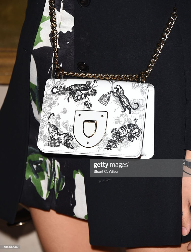 Guest's Bag Detail as the arrive for the Christian Dior showcase of its spring summer 2017 Cruise collection at Blenheim Palace on May 31, 2016 in Woodstock, England.