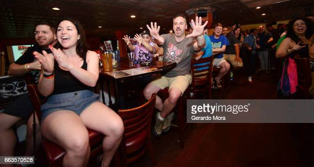 Guests cheer during the SiriusXM's Busted Open Live From WrestleMania 33 on April 1 2017 in Orlando City