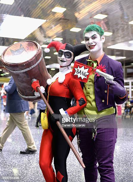 Guests cosplay as Harley Quinn and The Joker during Wizard World Comic Con Chicago 2016 Day 4 at Donald E Stephens Convention Center on August 21...