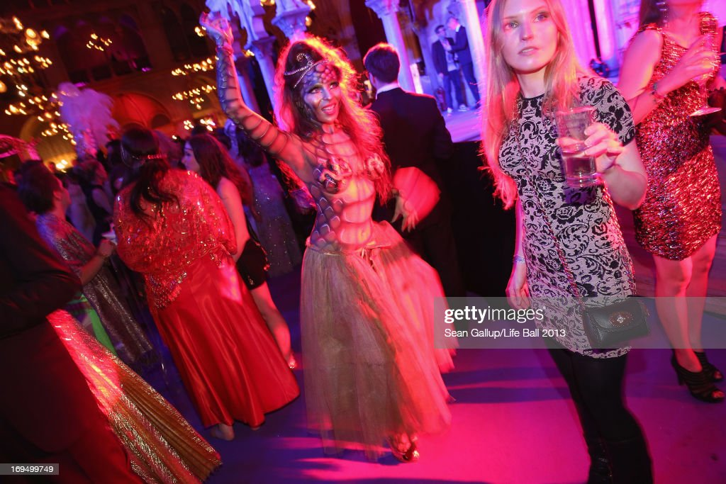 Guests dance at the after show party at the 2013 Life Ball at city hall on May 25, 2013 in Vienna, Austria.