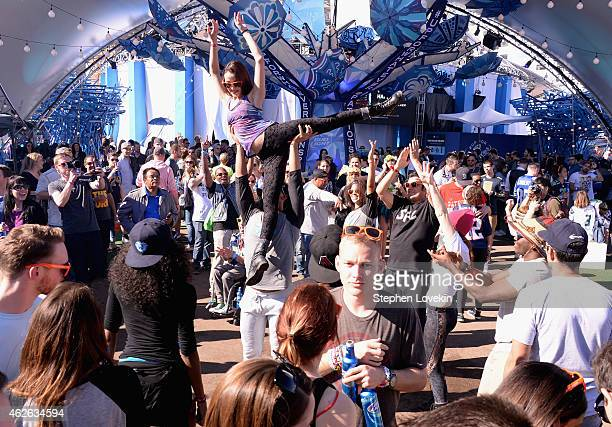 Guests enjoy a variety of activities and concerts at Bud Light House of Whatever on February 1 2015